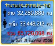 จำนวนประชากรประจำปี